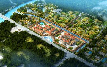 景区 山西夏县瑶台山景区温泉街规划设计