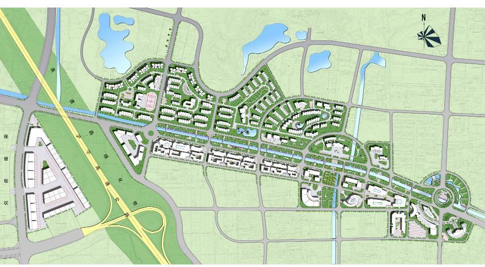 城市  江苏常州武进区横山桥镇中心城市设计