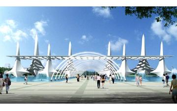 太湖湾 旅游度假区北大门及入口广场
