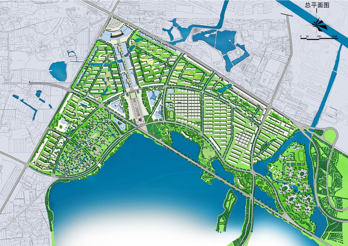 江苏常州武进区遥观镇城市设计 1、衔接上层规划,协调周边关系; 2、调整路网结构,保护湿地资源; 3、构建轴线空间,理顺框架结构; 4、集中商业文化,功能相乘效应; 5、定位广场空间,辐射周边群众; 6、沿湖组织交通,通而不畅运行; 7、居住分区布...查看更多