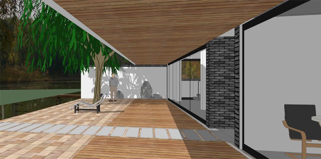 奥体森林公园别墅模型动画