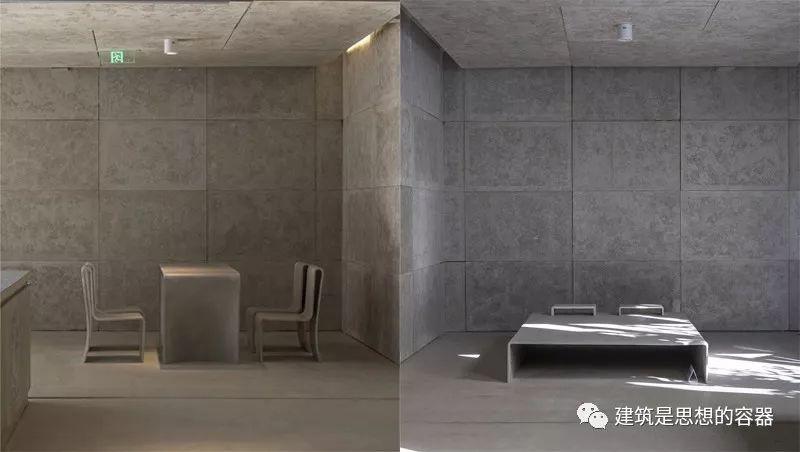 建筑内部家居:餐桌和床